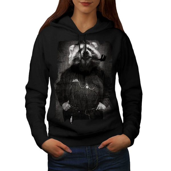 Agent Sheriff Racoon Womens Hoodie