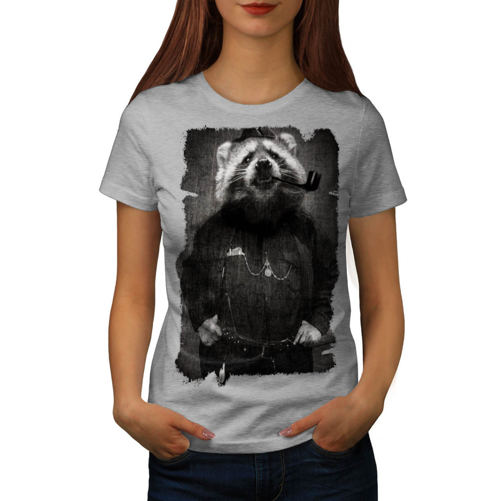 Agent Sheriff Racoon Womens T-Shirt