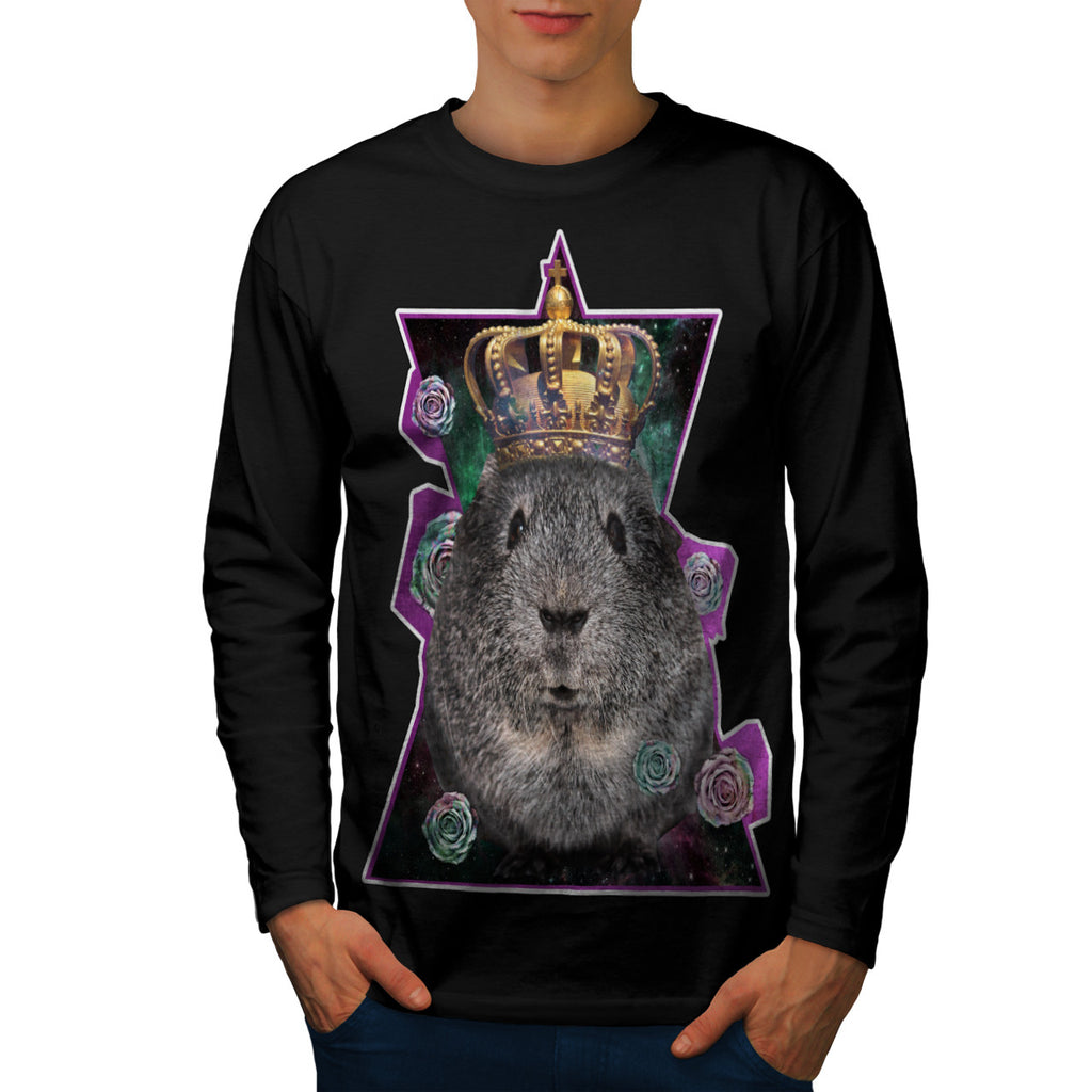 Crown Hamster Cute Mens Long Sleeve T-Shirt