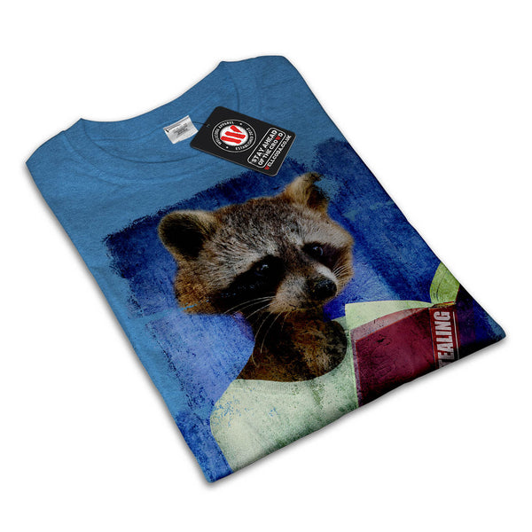Lady Racoon Book Womens T-Shirt