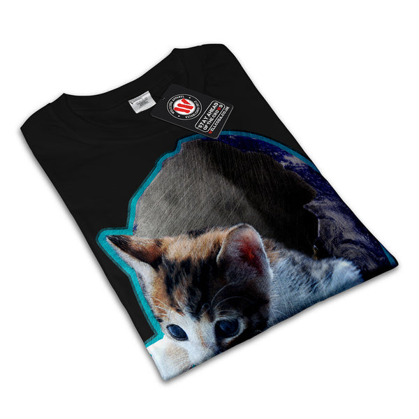 Kitty Earth Shell Womens T-Shirt