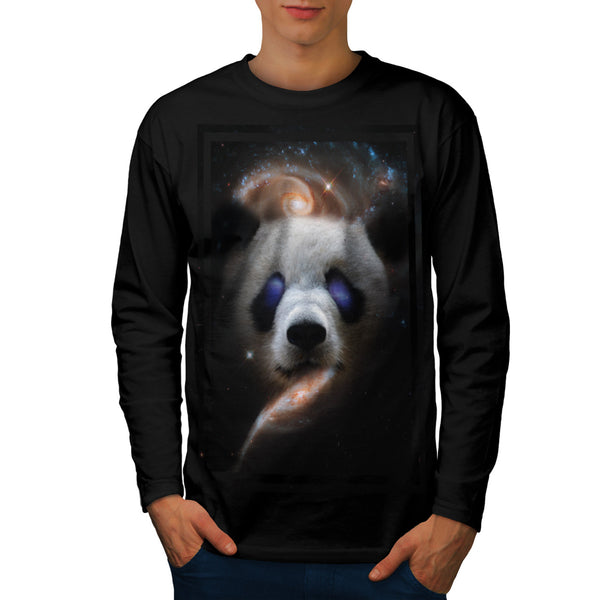 Galaxy Space Panda Mens Long Sleeve T-Shirt