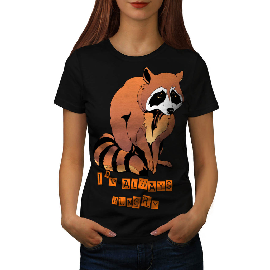Sad Animal Racoon Womens T-Shirt