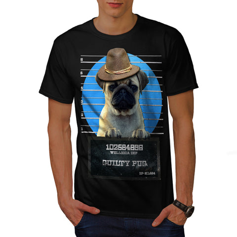 Guilty Pug Criminal Mens T-Shirt