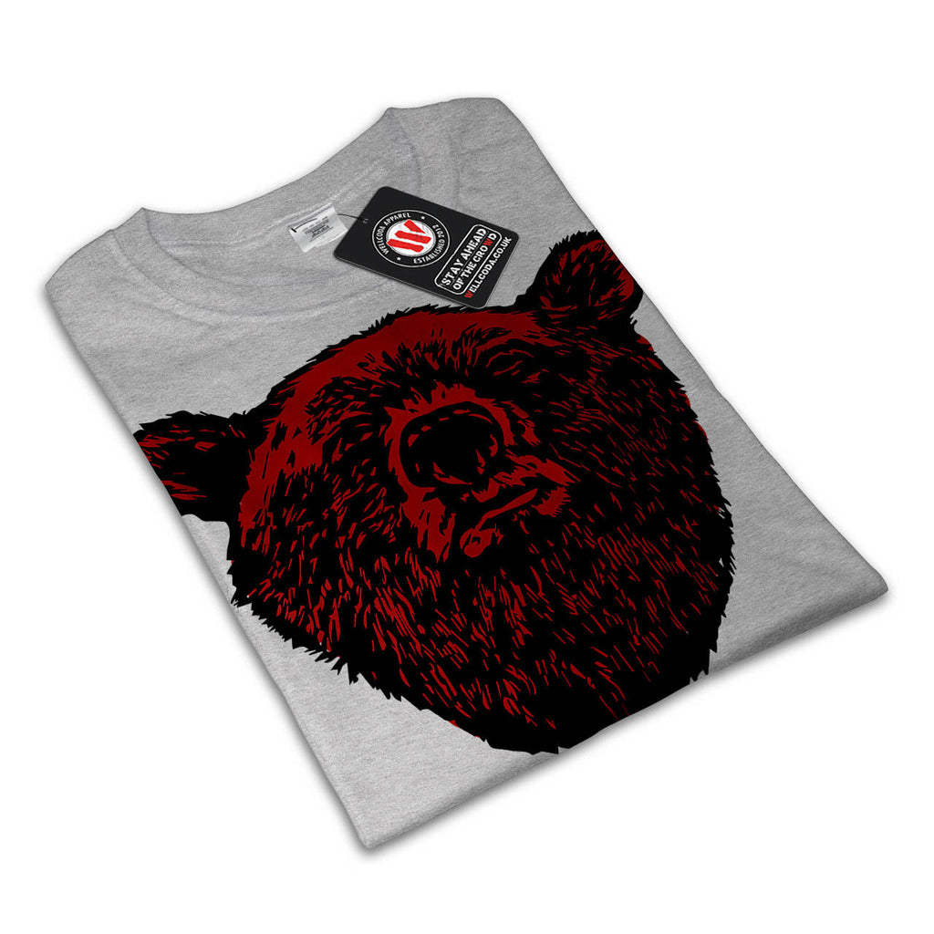 Torn Bear Animal Zoo Womens T-Shirt