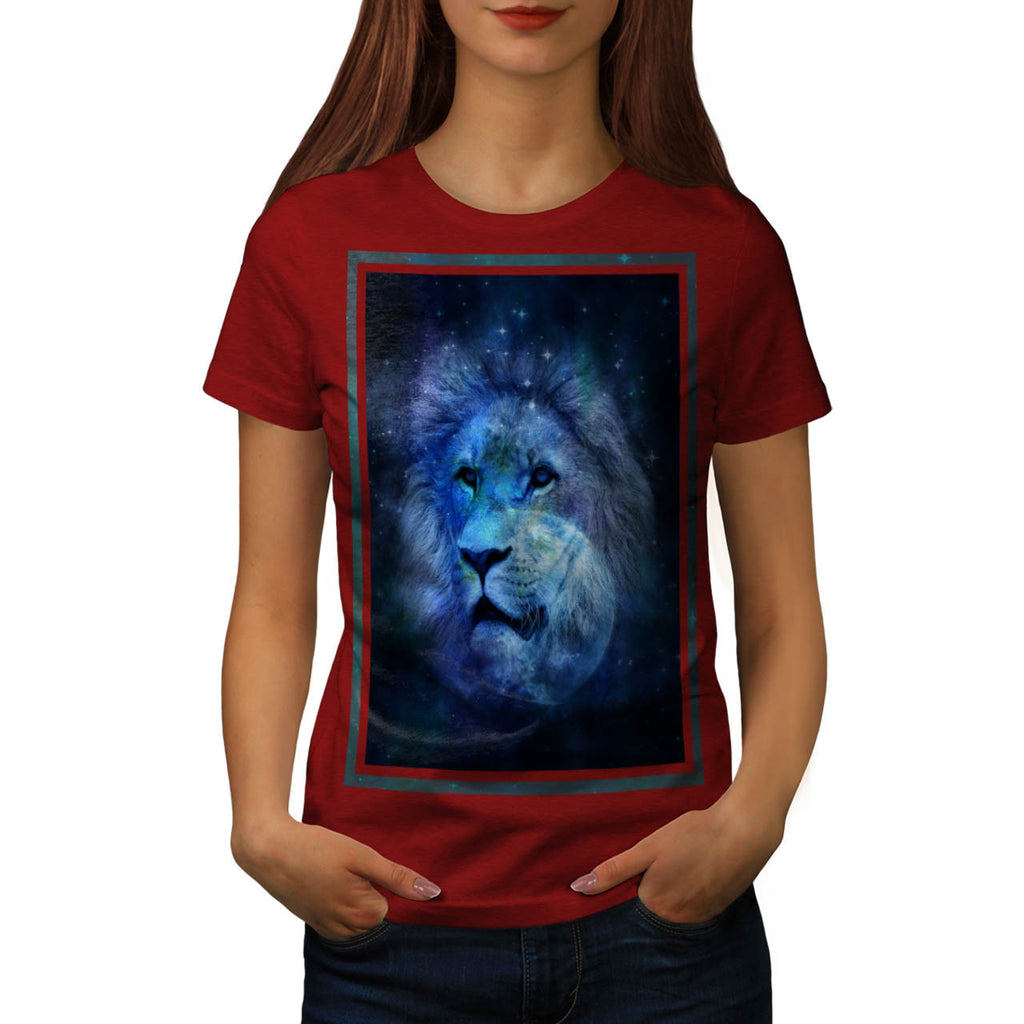 Space Lion Fantasy Womens T-Shirt