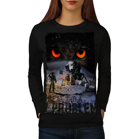 Space Problem Cosmos Womens Long Sleeve T-Shirt
