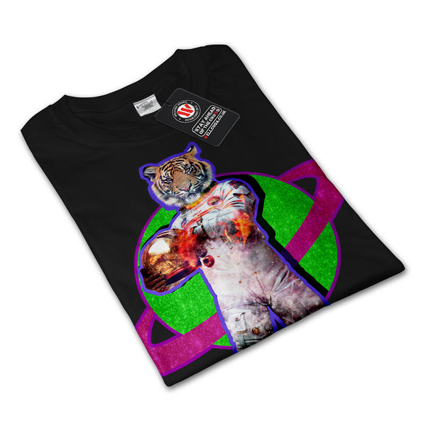 Tiger Astronaut Fire Mens Long Sleeve T-Shirt