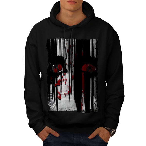 Horror Face Grudge Mens Hoodie