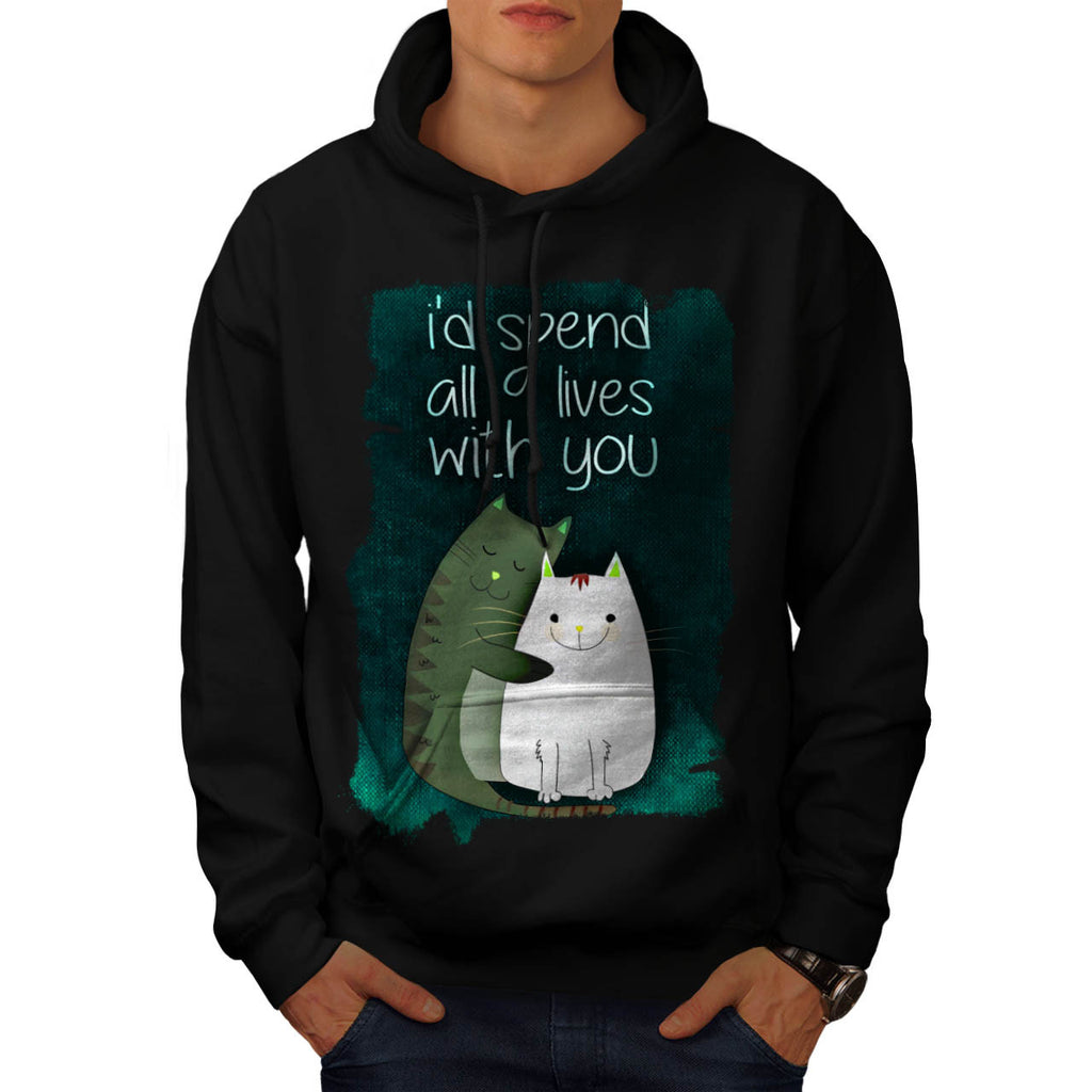 Cat Together Life Mens Hoodie