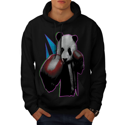 Panda Box Animal Mens Hoodie