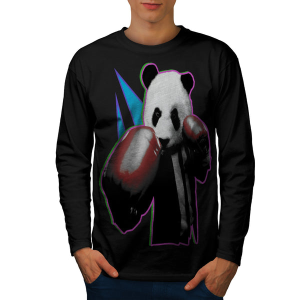 Panda Box Animal Mens Long Sleeve T-Shirt