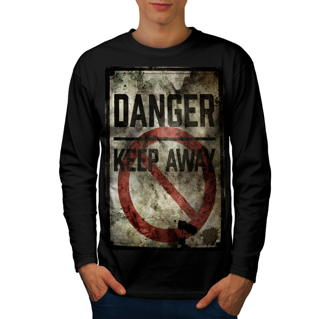 Danger Keep Away Mens Long Sleeve T-Shirt