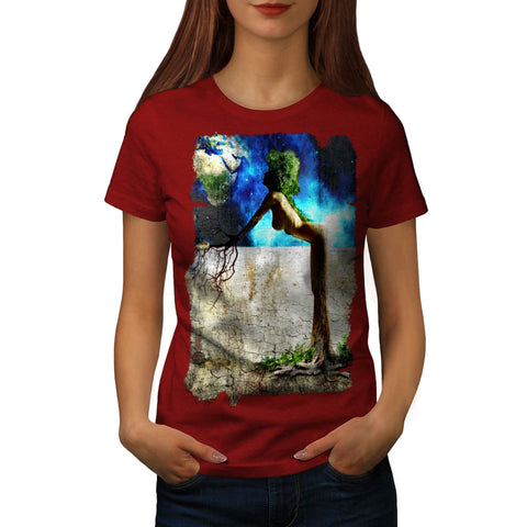 Fantasy Girl Space Womens T-Shirt