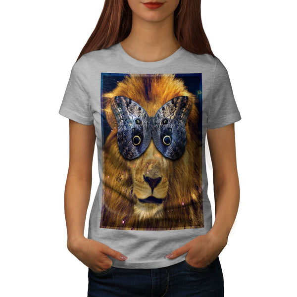 Butterfly Lion Head Womens T-Shirt