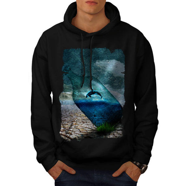Orca Bottle Nature Mens Hoodie