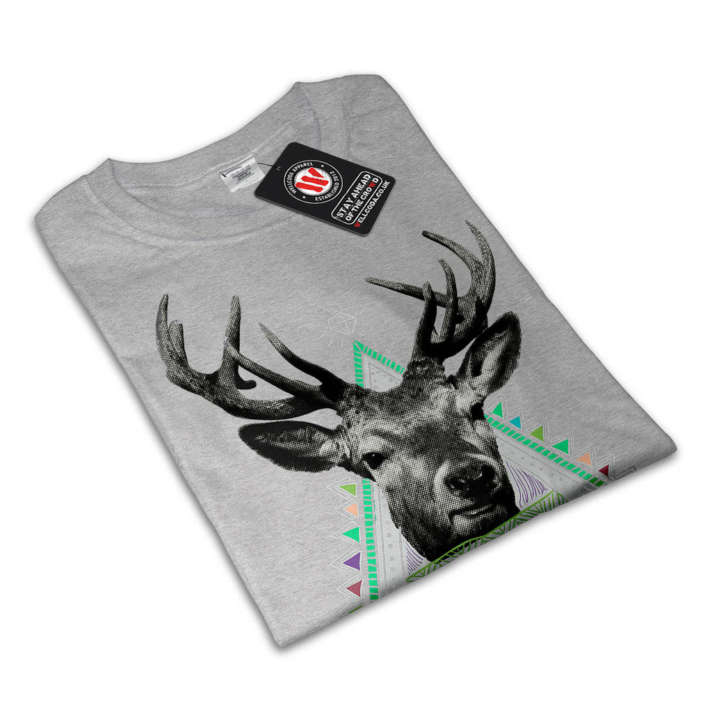 Fun Stag Diamond Deer Womens T-Shirt