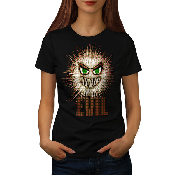 Evil Ball Face Funny Womens T-Shirt