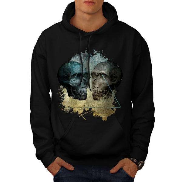 Skull Head Devil Art Mens Hoodie