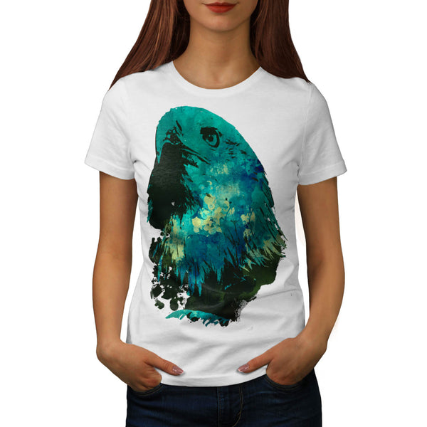 Eagle Head Eye Stare Womens T-Shirt