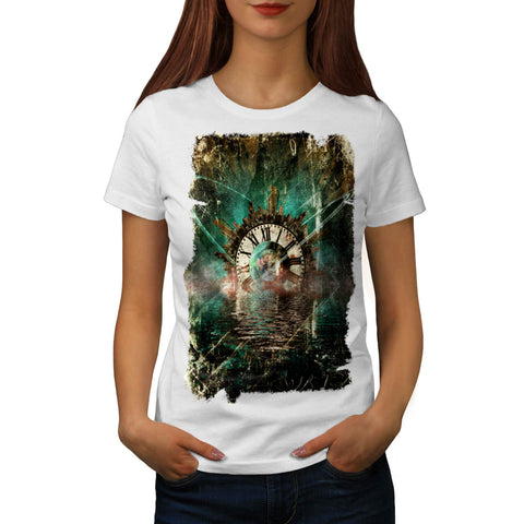 Vintage City Clock Womens T-Shirt