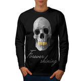 Skull Head Concert Mens Long Sleeve T-Shirt