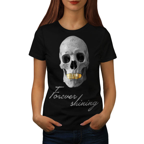 Skull Head Concert Womens T-Shirt