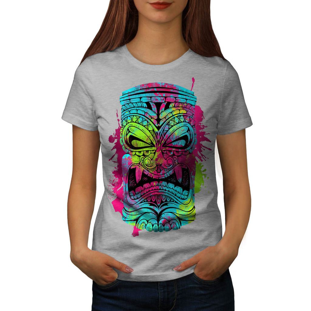 Totem Mask Funny Womens T-Shirt