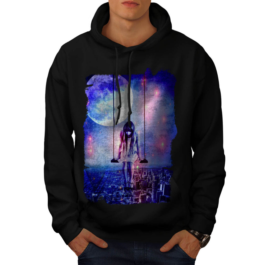 Swinging City Girl Mens Hoodie