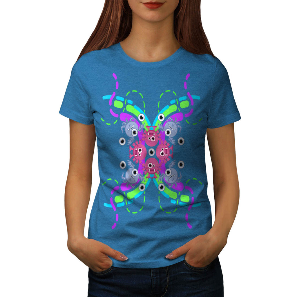 Funky Crazy Monster Womens T-Shirt
