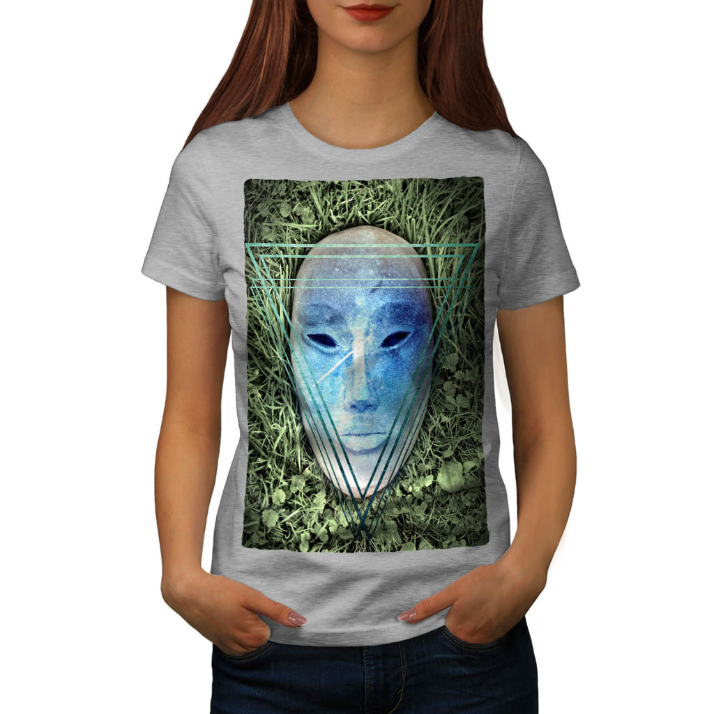 Triangle Face Mask Womens T-Shirt