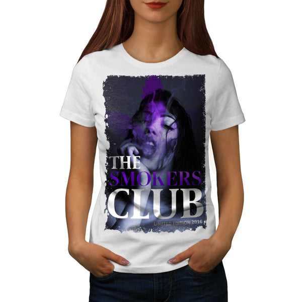 Smoking Club Girl Womens T-Shirt