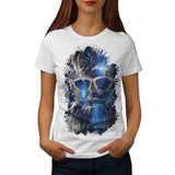 Space Hipster Beard Womens T-Shirt