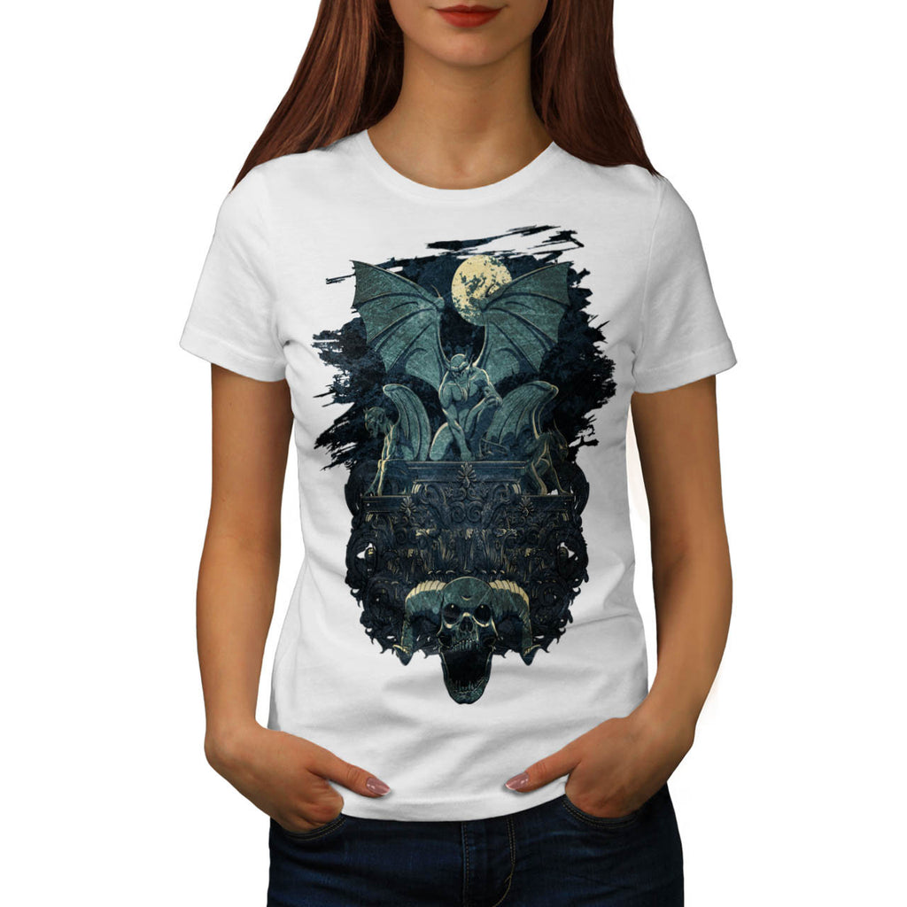 Devil Bat Monster Womens T-Shirt