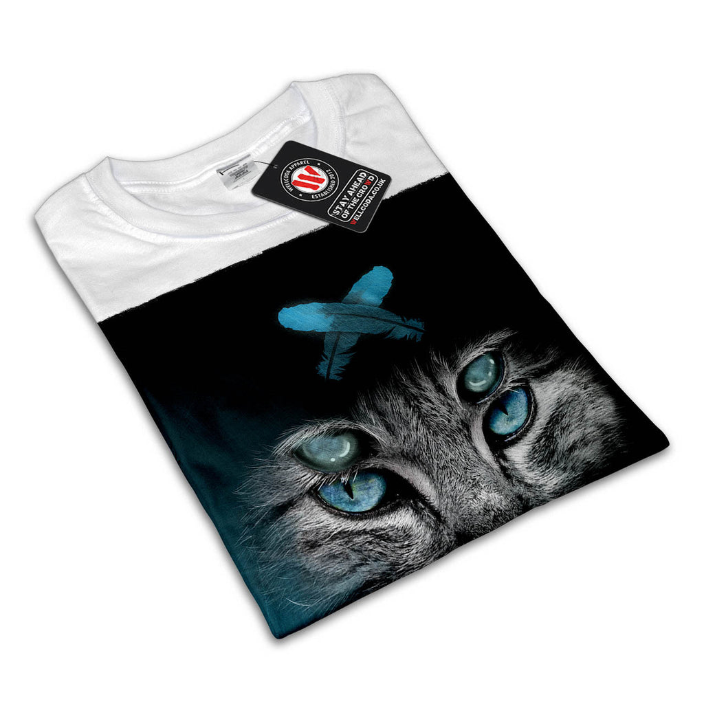 Monster Eye Cat Womens T-Shirt