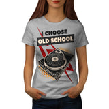 Vinyl Play Nostalgia Womens T-Shirt