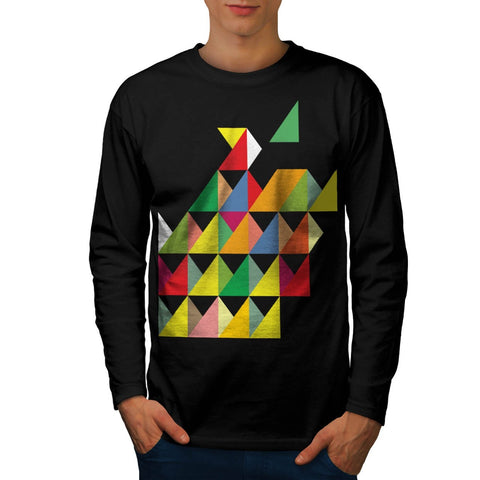 Amazing Triangle Print Mens Long Sleeve T-Shirt
