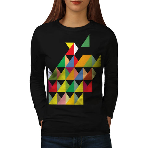 Amazing Triangle Print Womens Long Sleeve T-Shirt