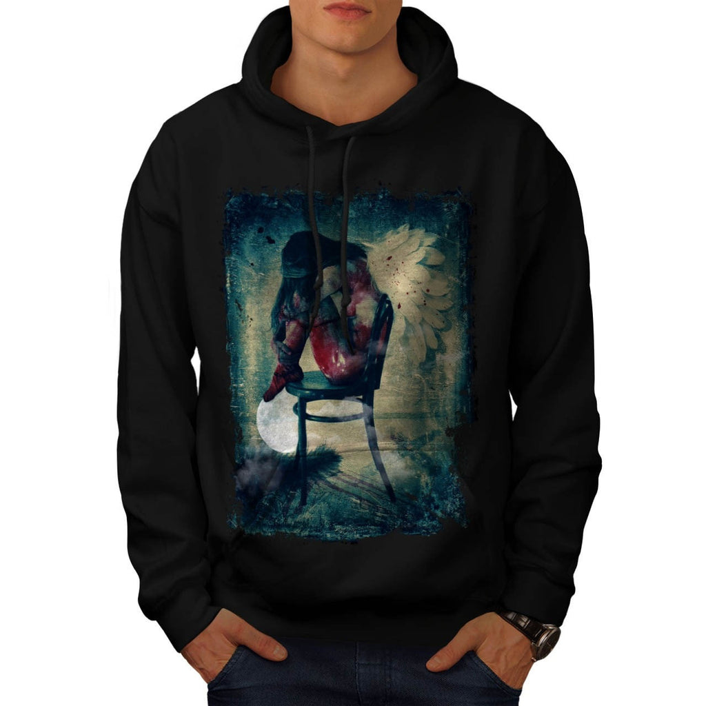 Angel Woman Wing Mens Hoodie
