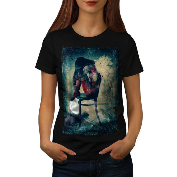 Angel Woman Wing Womens T-Shirt