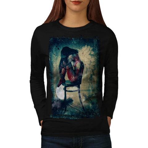 Angel Woman Wing Womens Long Sleeve T-Shirt