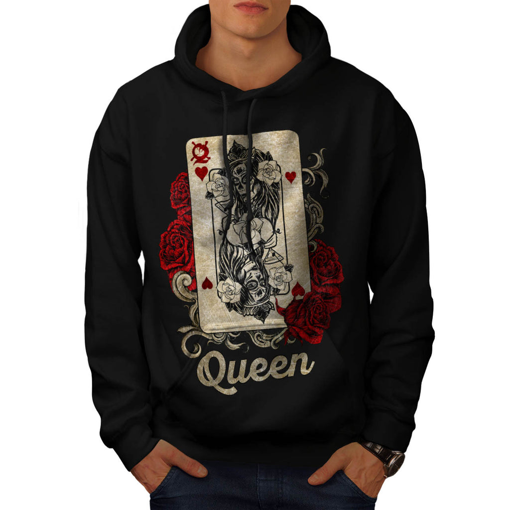 Gamble Card Queen Mens Hoodie