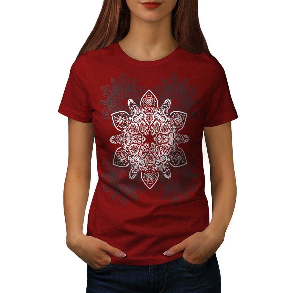 Indian Summer Pattern Womens T-Shirt