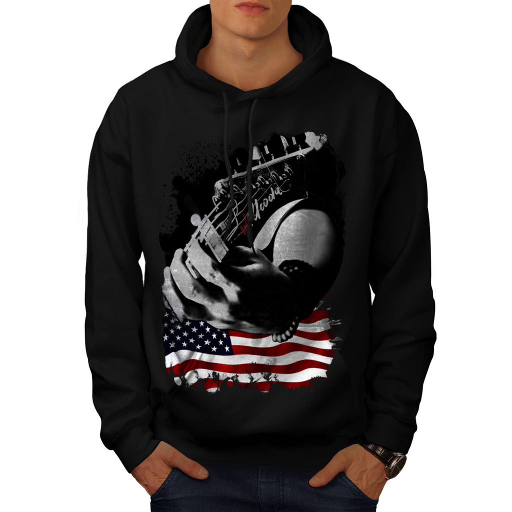 Rock Star Guitar Mens Hoodie
