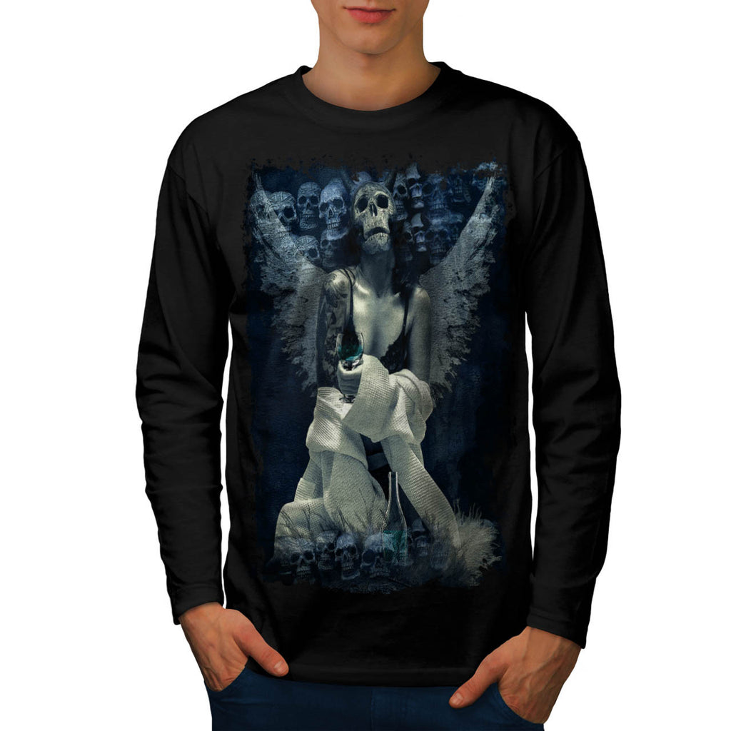 Dead Angelic Girl Mens Long Sleeve T-Shirt