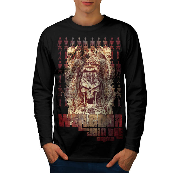 Skeleton Kingdom Mens Long Sleeve T-Shirt