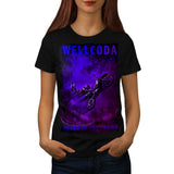 Space Motorcycle Womens T-Shirt