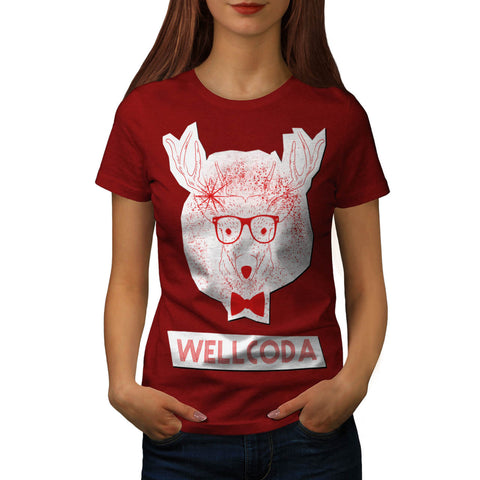 Deer Geek Gentleman Womens T-Shirt