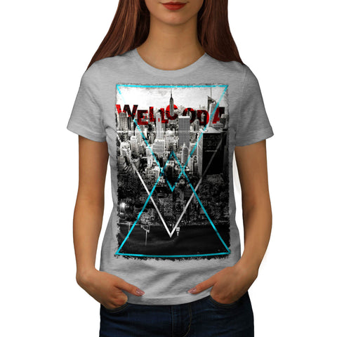 City Life Triangle Womens T-Shirt
