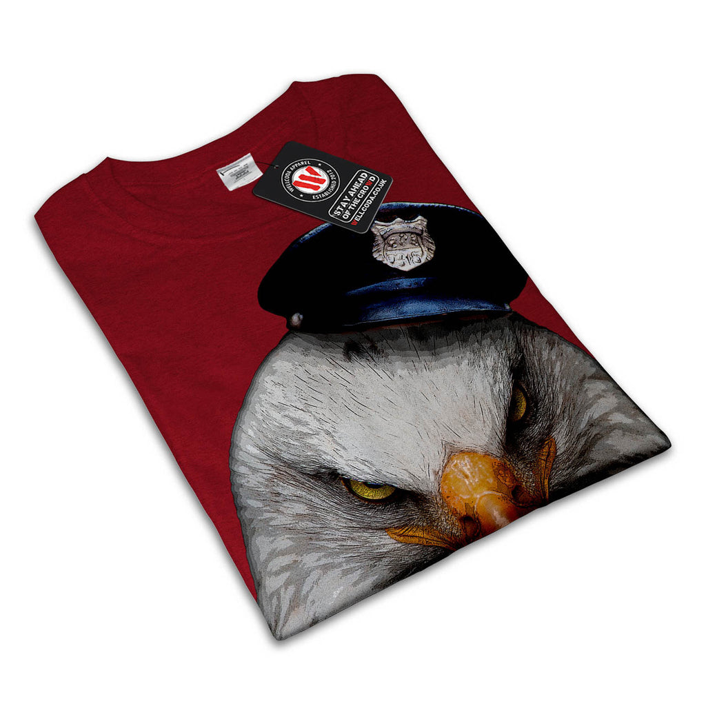Eagle Cop Hat Head Womens T-Shirt